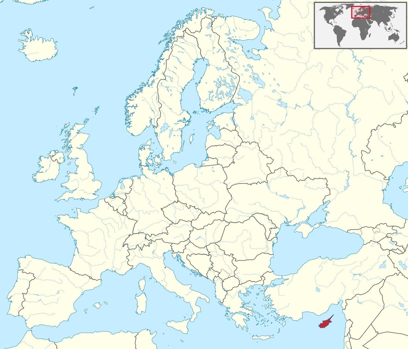 Kypr Mapa V Mapa Sveta Mapa Kypr Mapa Sveta Jizni Evropy Evropa